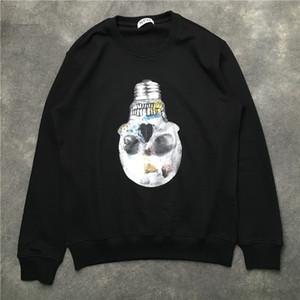 Schädel Bulb Printed Hoodies Mens Womens Casual Kapuzen dünne Pullover männlich weiblich Hip Hop Designer Sweatshirts