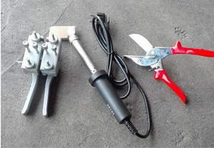 أدوات ل PU جولة حزام آلة لحام لحام المشبك + مقص + لحام الحديد مع طلاء لحام بعقب جودة عالية