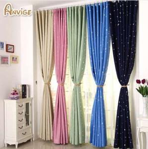 ANVIGE Modern Stars مطبوعة كاملة ستائر التعتيم نافذة العلاج الستار 5 ألوان الكرتون الستائر العرف الستار