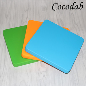200ml Nonstick Wax Containers Silicone Pizza Box Concentrate Silicon Square Container Big Jars Dishes Mats Dab Dabber Tool Extra Large Jar