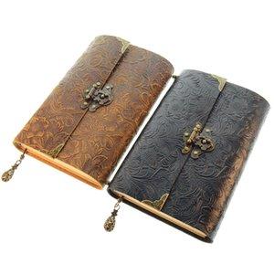 Flower For Gift Leather - Handmade Journal Notebook 100 Sheets Notepad Antique Daily Writing Notebooks Pattern Cameo & Women Men Cjbxi