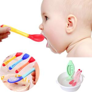 Bebê Temperatura Sensing Colher Garfo Alimentação Infantil Alimentação Do Bebê Colher De Crianças Pratos De Bebê Alimentador De Aparelho De Jantar