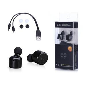 X1T Twins mini سماعات بلوتوث في الأذن سماعات أذن لاسلكية سماعات CSR 4.2 رياضية ستيريو مع تغليف التجزئة