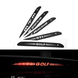 De fibra de carbono pegatinas y calcomanías de montaje alto, parada de luz de freno del coche Luz de estilo para VW Volkswagen Golf MK6 6 7 MK7 POLO Tiguan