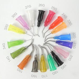 Dispensing Needles Syringe Needle 0.5 بوصة ، رأس بلانت ، 45 درجة ثني ، 50 قطعة ، 14 جرام ، 15 جرام ، 16 جرام ، 18 جرام ، 20 جرام ، 21 جرام ، 22 جرام ، 23 جرام