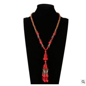 Jiasha professionelle Verkäufe Damen lange populäre Volksart weibliche Modeschmuck Zinnober Halskette