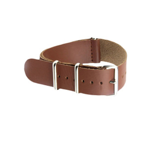 Genuine Leather Nato Strap Watch Band Bracelet For Most Watches with Steel Rings 20mm 22mm 24mm Free Shipping