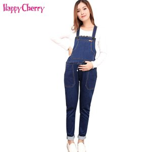 4XL Maternity Elastic Jean Overalls Pregnant Women Clothing Spring Autumn Denim Jumpsuit Maternity Bib Pants Pregnant Trousers