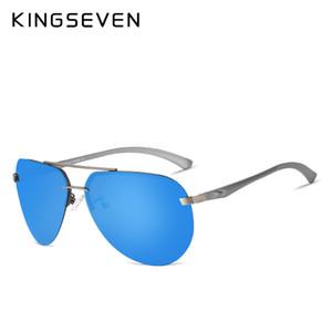kingseven de aluminio de alta definición de magnesio de aviación gafas de sol polarizadas mujeres hombres que conducían los vidrios de Sun de la vendimia