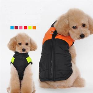 Vestiti del cane di modo per il piccolo cane Inverno Cappotto Giacca Cani Gilet Pet Abbigliamento Winterproof 6 colori