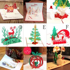 3D Pop Up Kartları Sevgililer Lover Mutlu Doğum Günü Merry Christmas Tebrik Yaratıcı Merry Christmas Hediyeler Kartpostal