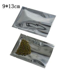 9 * 13 см (3.54''x5.1 '') Открытая передняя часть Прозрачная упаковка для сушеных пищевых продуктов Майларная термосвариваемая упаковка для сыпучих продуктов Вакуумный полиэтиленовый мешок для хранения 200 шт.