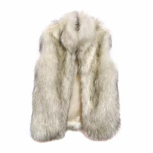 Kadınlar Uzun Faux Kürk Yelek Casacos Femininos De Pele Kış Sonbahar Ceket Feminino Moda Dış Giyim Kabarık Sahte Kürk Yelek Q4