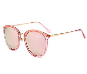 الرجال النساء الإطار الكبير نظارات الشمس جولة الاستقطاب النظارات الملونة السيدات النظارات الشمسية المد الرجال الوجه الأزياء شخصية النظارات A359