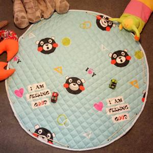 INS Karikatür Odası Mat / Üreticisi Toptan için Kat Mat Karikatür Oyun Pedi için Bebek Kilim Playmats Yürümek Tarama Oyuncak Saklama Çantası