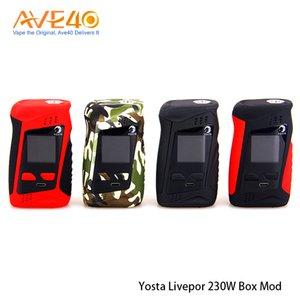 100% Original Yosta Livepor 230 TC Box Mod 230w Elektronische Zigarettenanzündung durch zwei 18650-Batterien
