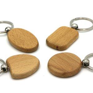 DIY Em Branco De Madeira KeyChain Anel Titular De Madeira Coração Keychain Personalizado Nome Gravado Chaveiros Melhor Presente D0081-1