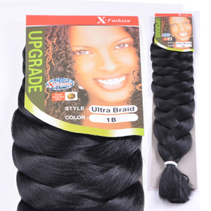 Wholesale 82inch Xpression braiding hair synthetic hair weave JUMBO braids harr extensions 165 grems bulk cheveux crochet hair extension