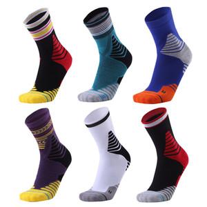 2018 hommes élite cyclisme chaussettes de basket-ball plus épaisse serviette bas antidérapant respirant mâle chaussettes de compression hommes chaussettes en gros