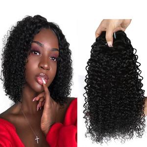 Brasileira Kinky Curly Do Cabelo Humano 3/4 Pcs feixes de Cabelo Humano Brasileiro Curly Bundles Barato encaracolado extensão do cabelo humano cor natural