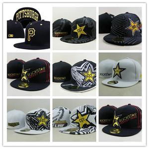 Yeni Tasarım Rockstar Donatılmış Şapkalar Gorras Kemikleri Masculino Düz Ağız Şapka Rockstar Kap Chapeau Homme Mens Womens Kaykay Gorras