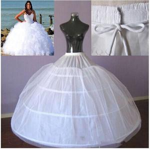 Venta caliente 4 aros vestido de bola enagua para la novia vestido de novia grande Underdress Maxi Plus Size Underskirt resbalón de alta calidad