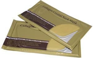 Gold Bio-Kollagen-Hals-Maske Crystal Gold Powder Whitening Anti-Aging-Hals-Pflege-feuchtigkeitsspendende entfernen Hals Falten Haut