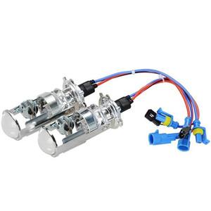 1 par 35W H4 LHD Bi-Xenon Bombillas Lossless HID Bombilla de luz de lámpara Alto / Bajo la luz del faro con la mini lente del proyector 4300K 6000K