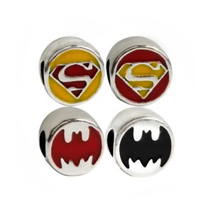 Superman Batman Charm Bead Fashion Jewelry Donna Stunning Design stile europeo per il braccialetto braccialetto fai da te