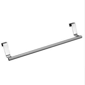 Nuova porta del bagno Asciugamano da cucina Over Holder Cassetto Gancio di stoccaggio Scarf Hanger Cabinet Hanging Rack di asciugamani in acciaio inox Hot A12