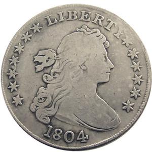 Vereinigten Staaten Münzen 1804 Drapierte Büste Messing Brief Edge Versilbert Dollar Kopie Münze