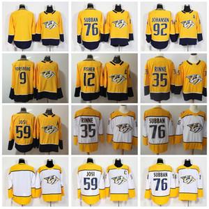 ناشفيل بريداتورز جيرلز Yellow White Ice Hockey 59 رومان جوسي جيرزي 92 Ryan Johansen 35 Pekka Rinne 9 Filip Forsberg Mike Fisher Man