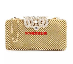 Preço de fábrica por atacado de Crown strass noite sacos bolsa cheia de diamantes sacos de noite de embreagem bolsa de ombro para o casamento
