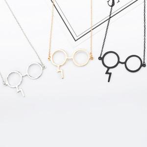 Ожерелья Ювелирные Изделия Черное Золото Посеребренные Ювелирные Изделия Гарри Очки Ожерелья Волшебные Очки Для Любителей Поттера Мода Панк Ювелирные Изделия