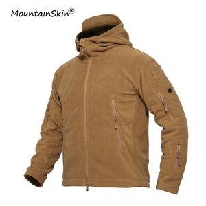 Mountainskin Männer beiläufige warme Fleecejacken taktische winddichte Oberbekleidung Mode mit Kapuze Mäntel Marke Kleidung LA671