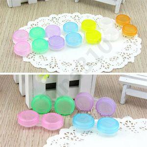 Color Contact Lenses Case Dual Box Double Case Lens Soaking Case Make-up box 100 pcs / bag T11023