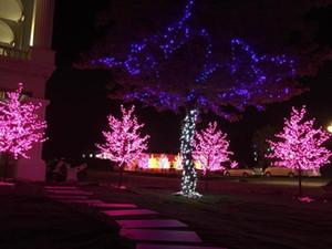 LED Cherry Blossom Tree Lumière 480pcs LED Ampoules 1.5m Hauteur 110 / 220VAC Sept Couleurs pour Option Usage Extérieur Rainproof Drop Shipping