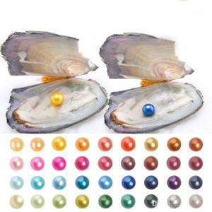 2019 New DIY Freshwater Oyster com Natural Grau 6-7 mm Fun Multicolor da pérola redonda festa com amigos e crianças Speical presente! Frete grátis