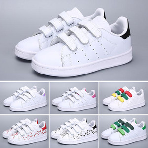 Adidas Superstar Дети дети supersta мальчик девочка Детская обувь крюк петли розовый черный мульти белый Самба Газель ОГ Стэн Смит тренеры кроссовки sieze22-35
