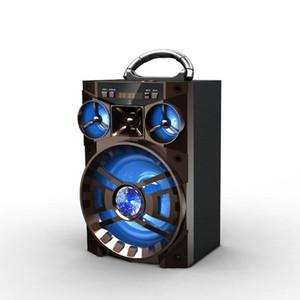 HiFi-Lautsprecher Tragbarer Bluetooth-Lautsprecher Lautsprecher HiFi-Super-Bass-FM-Radio-TF-Karte, die AUX für Smartphone spielt