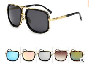 2018 Oversized Retro Brand Steampunk Sunglasses Mujeres Hombres Hip Hop Pink Mirror Sun Glasses Anti UVA Goggles Oculos 1828