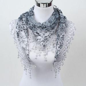 2019 nouvelle sortie d'usine de style! Les femmes écharpe de mode, les fichus de fleurs de dames, cuivre soie foulards de dentelle de trésorerie, la SJJ01 de tout match