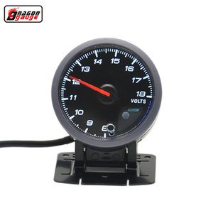 Medidor de dragão 60 MM Avançado Auto Car Volt Medidor de Luz Vermelha E Branca Backlight Display volt medidor de voltagem