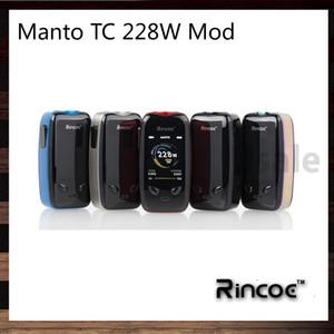 Rincoe Manto 228W TC boîte Mod avec 3D UI Sentiment 2.0 pouces TFT écran couleur Vitesse de tir quasi-instantanée de 0.002s panneau IML 100% Original