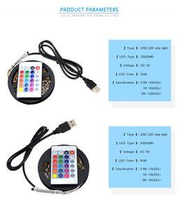 USB شاحن محول الصمام الخفيفة IP20 3528 5050 SMD 2M 3M 4M 5M 5V كابل USB إمدادات الطاقة USB LED قطاع الخفيفة RGB LED تحكم