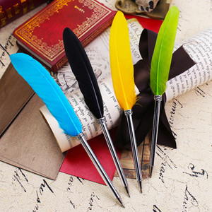 Прекрасный Kawaii мини перо подарок шариковая ручка цвет гусиное перо школа Товары для офиса