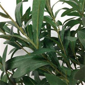 6 Fork Olive Leaf Branch Artificial Flower Botanica Decorazione di nozze Fiori di seta Eco Friendly Facile da usare 4 8wq dd