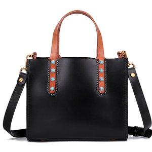 Handgemachte Frauen-Dame-echtes Leder-pflanzlich gegerbtes Leder-Handtaschen-Türkis-Verzierungs-Schulter-Beutel-Kuriertaschen Schulranzen
