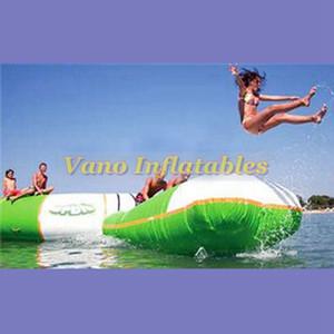 7x3 mt Aufblasbare Wasser-Klecks-Sprung-Aqua-Luft-Klecks-0.9mm aufblasbare Wassertrampoline-springendes Kissen PVCs Freies Verschiffen