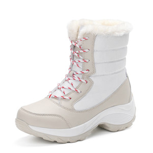 Outdoor Women Hiking Shoes Trekking Snow Boots Winter Warm Sneakers Thick Bottom Platform Waterproof Ankle Boots For Women